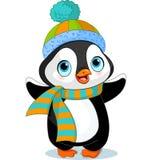 Pingüino lindo del invierno Fotografía de archivo
