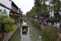 Pingjiang Road in Suzhou, Jiangsu, China. Pingjiang Road, historically known as Shiquan Li, is a street and historic district in Gusu District formerly the Royalty Free Stock Photography