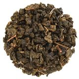 Pinglin Fo Shou Taiwan oolong in round shape. Isolated stock images