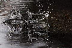 Pingos de chuva Imagens de Stock Royalty Free