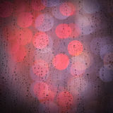 Pingos de chuva em uma janela Foto de Stock Royalty Free