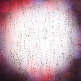 Pingos de chuva em uma janela Fotografia de Stock Royalty Free