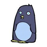 pingouin comique de bande dessinée Image libre de droits