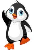 Pingouin de bébé de bande dessinée Photos stock