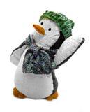 Pingouin de danse dans le chapeau et l'écharpe Photos libres de droits