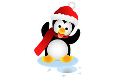 Pingouin de Noël Photographie stock