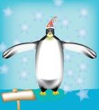 Pingouin de Noël Photo libre de droits