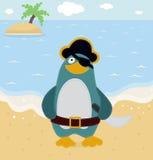 Pingouin de pirate Images libres de droits