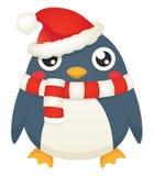 Pingouin de Santa Photos libres de droits