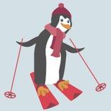 Pingouin drôle Photographie stock