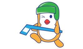 Pingouin jouant l'hockey illustration libre de droits