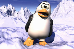 Pingouin semblant fâché Image stock