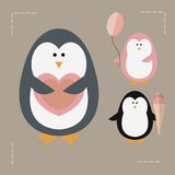 pingouins illustration stock