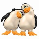 Pingouins dans l'amour Images libres de droits