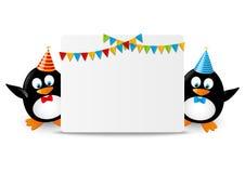 Pingouins drôles Images libres de droits