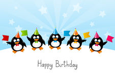 Pingouins drôles Photos libres de droits