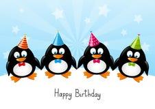Pingouins drôles Photo stock
