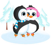 Pingouins sur la glace Photos stock