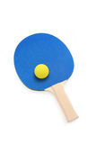 Pingpong paddle and ball Stock Photography
