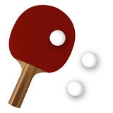 Pingpong paddle and ball Royalty Free Stock Image