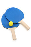 Pingpong paddles and ball Royalty Free Stock Image