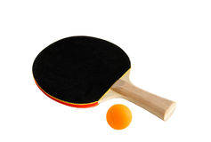 Pingpong racket. Close up over white Royalty Free Stock Photography