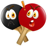 Pingpong racket with faces Stock Photography