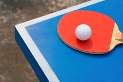 Pingpong rackets and ball Stock Photo