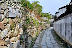 Pingshan village of ancient villages in China. This is the historical and cultural village Chinese, building an entire village practice into one, is Chinese Stock Photo