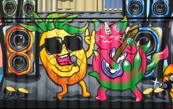 Colorful Graffiti Images in Taiwan Stock Images