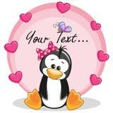 Pinguïn met harten royalty-vrije illustratie