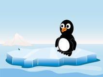 Pinguïn op de ijsberg stock illustratie