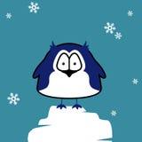 Pinguïn op ijsijsschol Stock Afbeelding