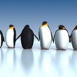 Pinguïnen royalty-vrije illustratie