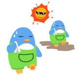 Pinguïnen in de zonneschijn Royalty-vrije Stock Foto