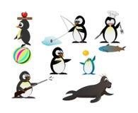 Pinguïnkarakter Royalty-vrije Stock Foto