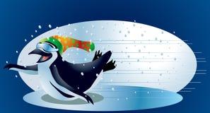 Pinguim #2 do Natal Imagens de Stock