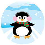 Pinguim Chrismas Foto de Stock