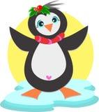 Pinguim com coração Fotos de Stock Royalty Free