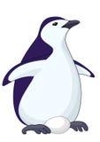 Pinguim com ovo ilustração stock