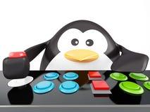 Pinguim da arcada Fotografia de Stock