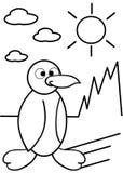 Pinguim da coloração Foto de Stock