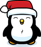 Pinguim do Natal dos desenhos animados Fotografia de Stock Royalty Free