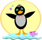 Pinguim em um iceberg Foto de Stock