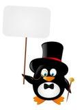 Pinguim engraçado do cavalheiro Imagem de Stock