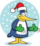 Pinguim na neve Imagens de Stock