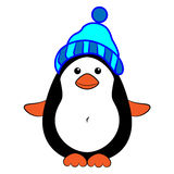 Pinguim que veste um chapéu imagem de stock