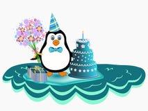Pinguim sobre o iceberg Foto de Stock