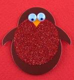 Pinguim Sparkly do entalhe Fotos de Stock