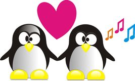 Pinguin stock illustrationer